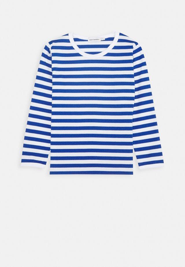LASTEN PITKÄHIHA - Pitkähihainen paita - white/blue