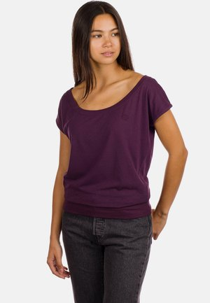 Basic T-shirt - plum perfect