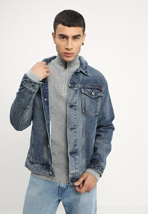 HIGHWAYMAN TRUCKER - Denim jacket - vale mid blue