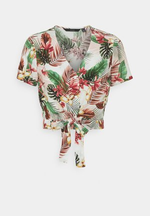 VMSIMPLY EASY TIETOP - T-shirt med print - birch/selma