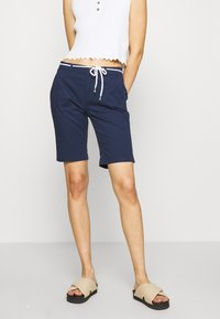 ONLY - ONLPARIS LONG BELT - Shorts - navy blazer - 0