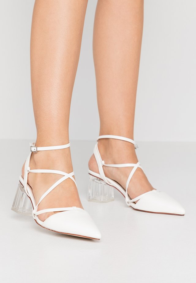 STUSH - Lace-up heels - white