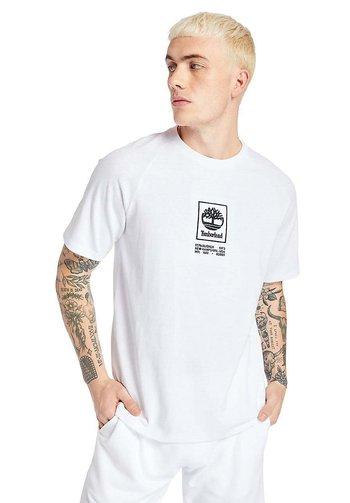 CORE STACK  - Print T-shirt - white