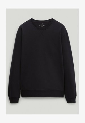 Sweatshirt - blue black denim