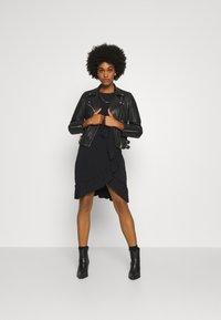 Vero Moda - VMPOPPY TIE SHORT DRESS - Shift dress - black - 1