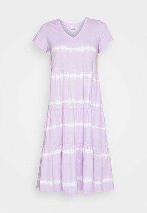 NMBUSTER TIE DYE DRESS - Jerseykjole - pastel lilac