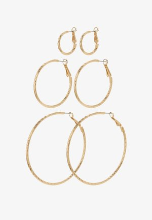 PCFASAY HOOP  3 PACK - Earrings - gold-coloured