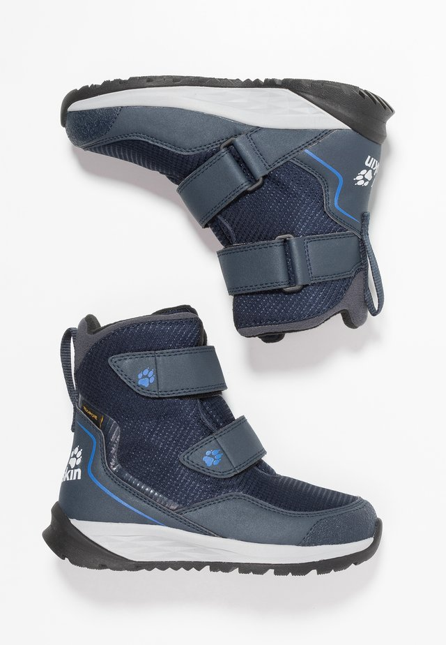 POLAR BEAR TEXAPORE HIGH - Winter boots - dark blue/light grey