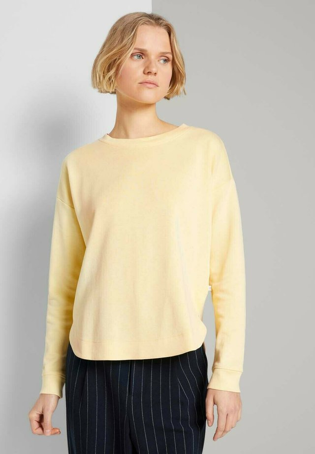 Sweatshirt - soft yellow
