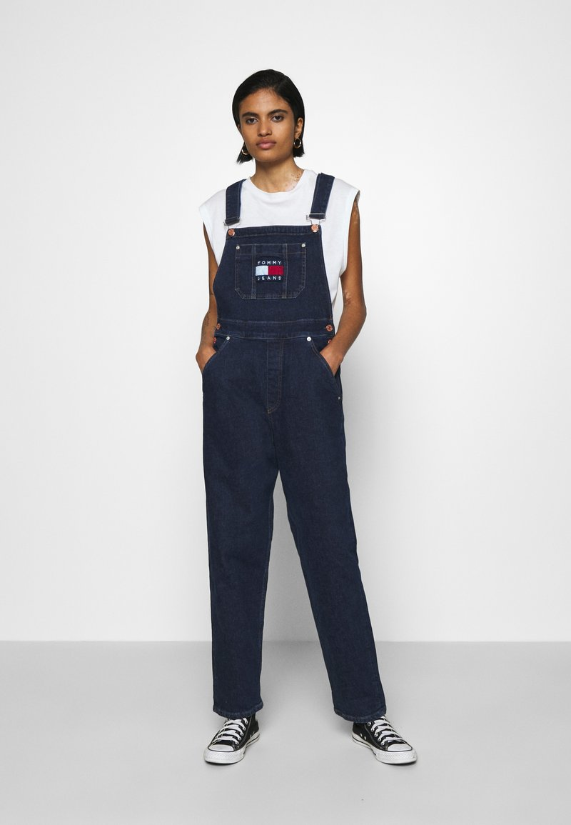 Tommy Jeans - DUNGAREE - Dungarees - oslo dark blue com