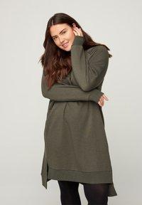 Zizzi - Jersey dress - green - 0
