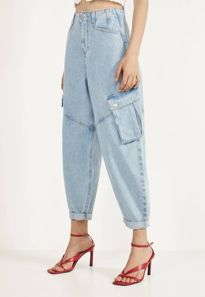 CARGOJEANS IM BALLON-FIT - Jeansy Relaxed Fit - blue denim