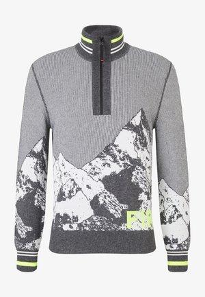 CALE - Zip-up sweatshirt - grau