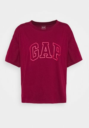 EASY TEE - Camiseta estampada - garnet