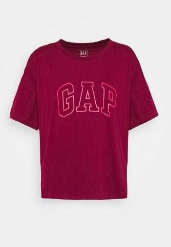 EASY TEE - Print T-shirt - garnet