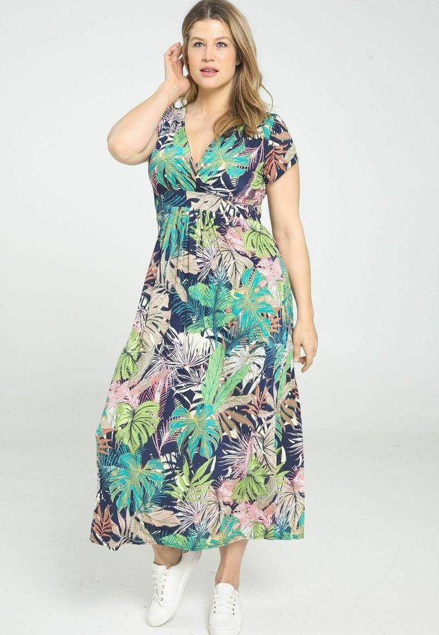 IMPRIMÉ FEUILLAGE - Korte jurk - multicolor