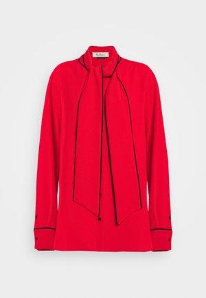 OTTILIE BLOUSE - Button-down blouse - bright red