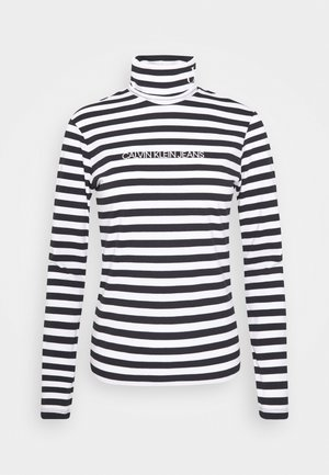 Long sleeved top - black/bright white
