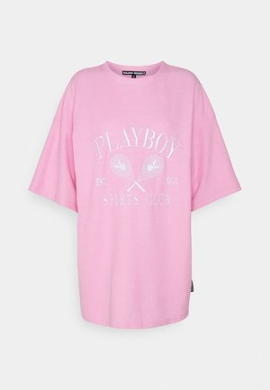 PLAYBOY SPORTS OVERSIZED TEE - Print T-shirt - pink