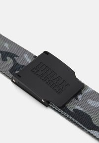 Urban Classics - WOVEN BELT RUBBERED TOUCH UNISEX - Skärp - grey - 2