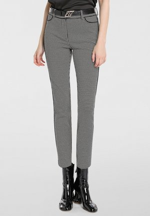 Trousers - schwarz-taupe