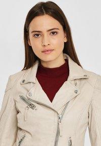 Gipsy - PGG LABAGV - Leather jacket - off white - 3