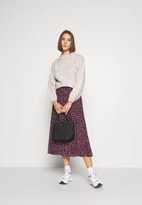 Dorothy Perkins - FLORAL PLEAT MIDI SKIRT - A-line skirt - pink - 1