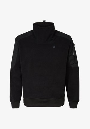 TECH FLEECE FUNNEL ZIP LONG SLEEVE - Stickad tröja - dk black