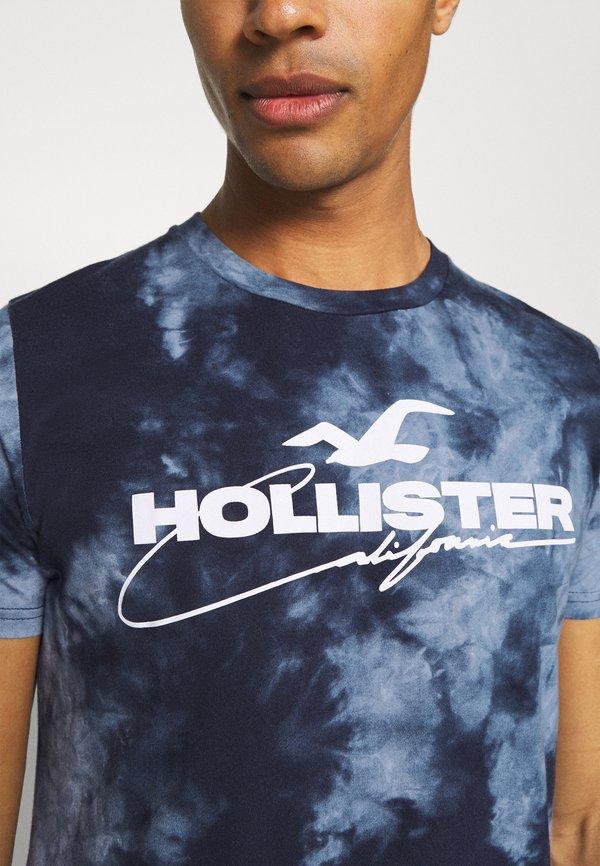 Hollister Co. GRAPHIC - T-shirt z nadrukiem - blue/granatowy Odzież Męska KIRE