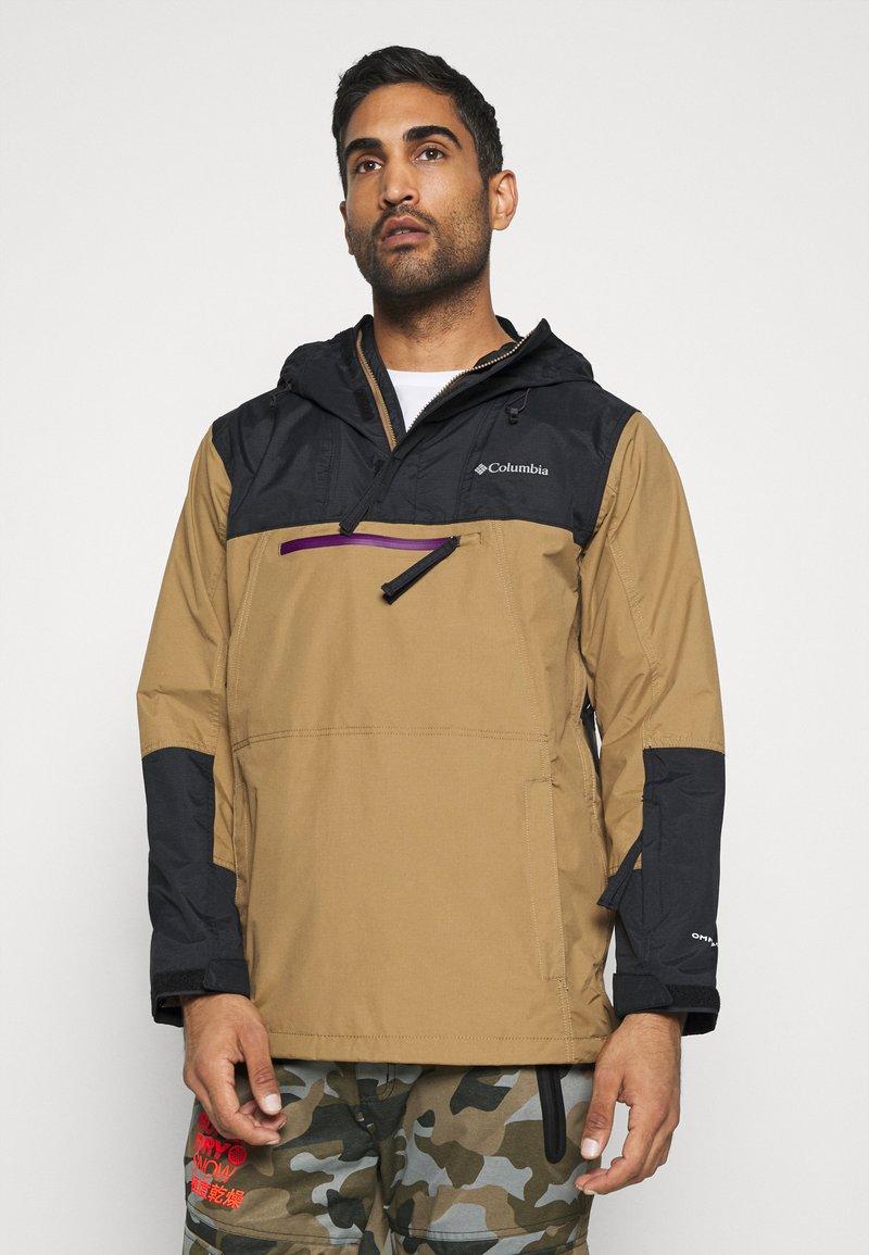 Columbia - PARK RUN ANORAK - Snowboard jacket - delta/black/plum