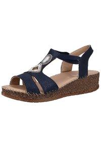 Jenny - Sandalen met sleehak - blue - 2