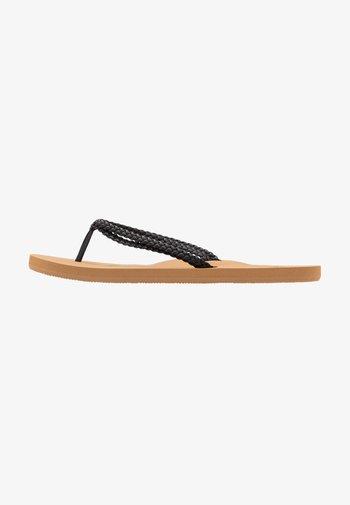 COSTAS - T-bar sandals - black