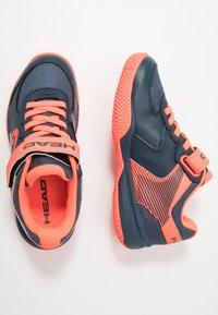Head - SPRINT 3.0 KIDS - Tenisové boty na všechny povrchy - midnight navy/neon red - 0