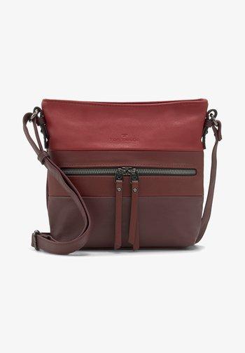 ELLEN  - Across body bag - mixed red