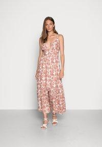 Abercrombie & Fitch - RESORT BUTTON DRESS - Maxi dress - pink - 0