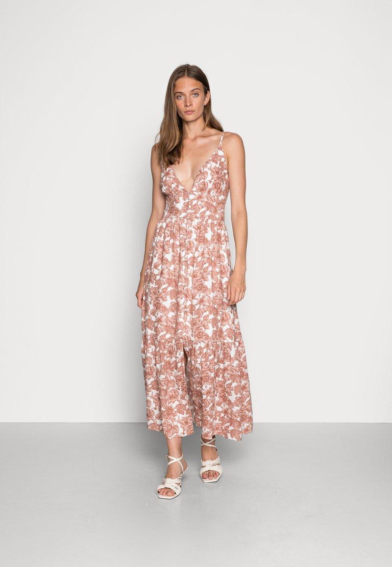 Abercrombie & Fitch - RESORT BUTTON DRESS - Maxi dress - pink