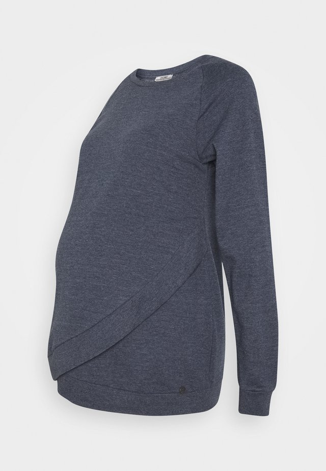 NURSING CROSS OVER - Sweatshirt - blue
