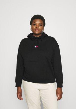 CENTER BADGE HOODIE - Sweater - black