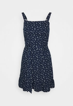 VOL DRIVE BARE DRESS - Denní šaty - navy