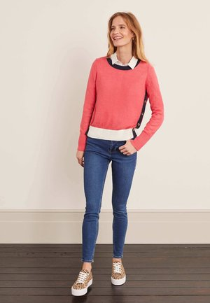 Sweatshirt - erdbeereis-rosa