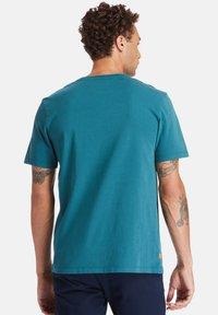Timberland - T-shirt imprimé - atlantic deep - 2