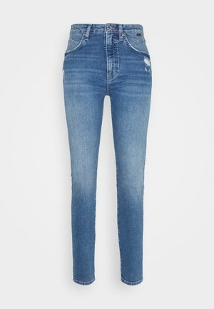 SCARLETT - Jeans Skinny Fit - mid brushed all blue