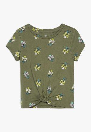 GIRL TEE - Camiseta estampada - cool olive