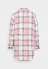 Missguided Tall - OVERSIZED CHECK SHACKET - Klassinen takki - pink - 1