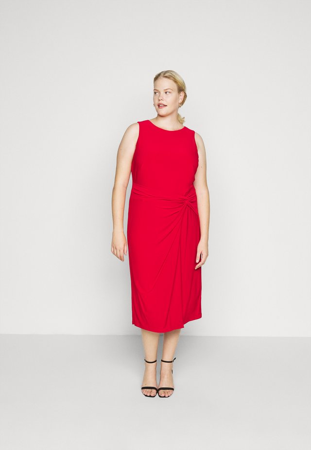 KAVA SLEEVELESS DAY DRESS - Etuikjole - orient red