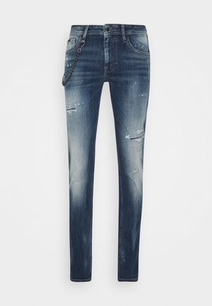 IGGY TAPERED FIT IN CROSS STRETCH - Slim fit jeans - blue denim