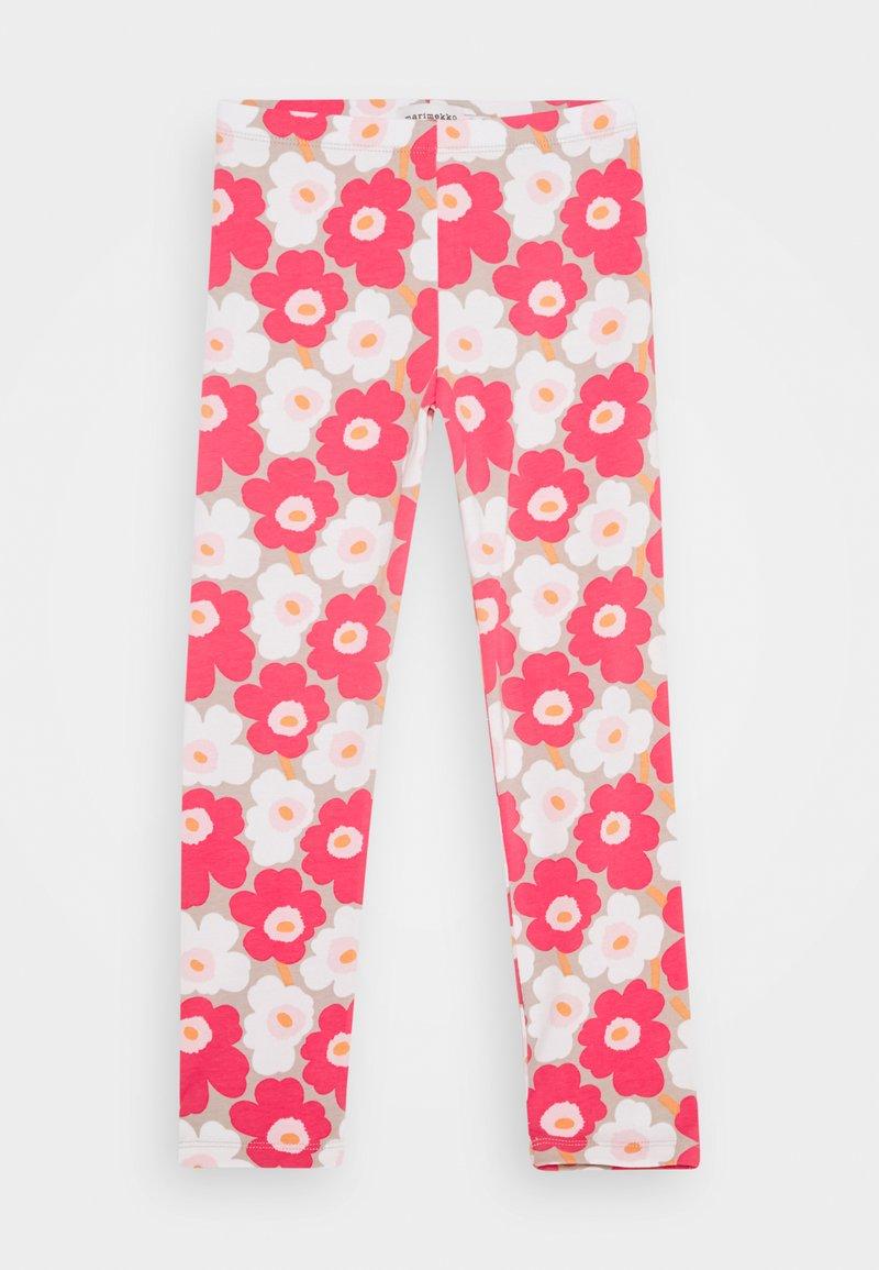 Marimekko - LAIRI UNIKKO TROUSERS - Leggings - Trousers - beige/pink/white