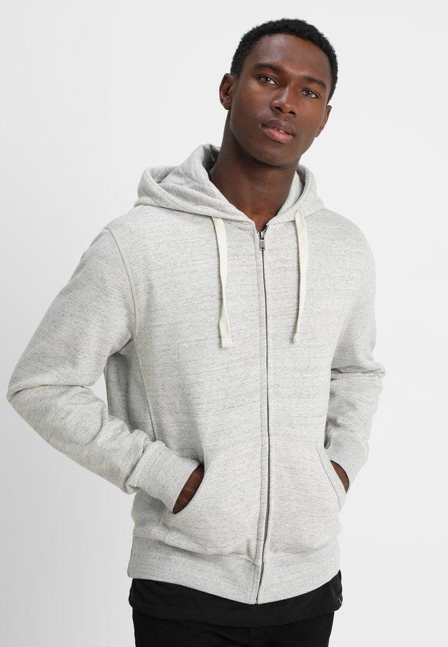Zip-up hoodie - stone mix