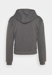 Even&Odd - Half zip through cropped hoodie - Mikina s kapucí - mottled grey - 1