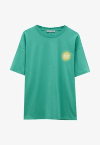 PULL&BEAR - Print T-shirt - light green - 5